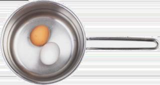 鍋子裡放蛋